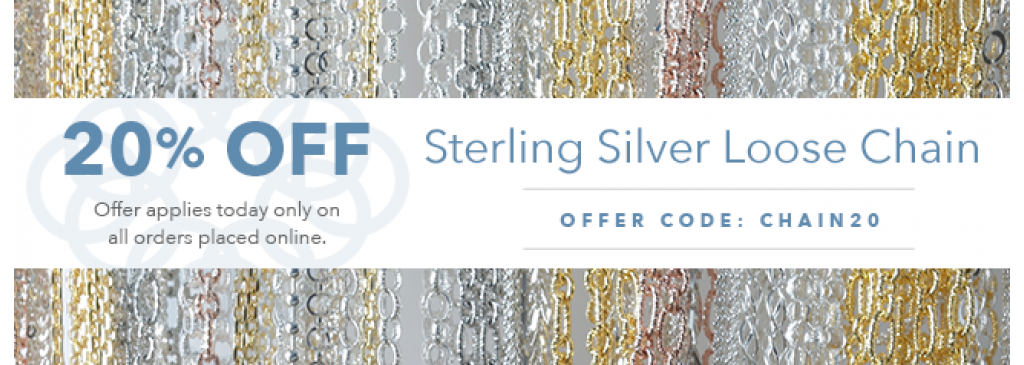 20% Off Sterling Silver Loose Chain