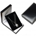 Necklet/XL Pendant Box, Black, TSBOX87