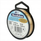 Beadalon 49 Strand Beading Wire, Gold Plated, 9.2 Meters, 0.46mm, TS49GP46
