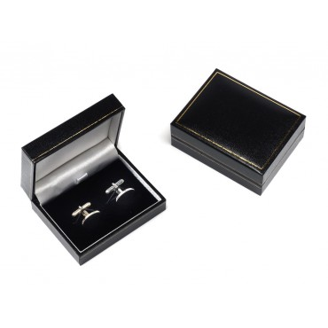 Cufflink Box, Black, TSBOX85