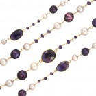 Beaded Chain - Purple, CBCLF1