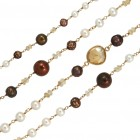 Beaded Chain - Brown, CBCLF3
