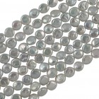 Freshwater Pearls, Coin Shape 8-9mm, White, PFWC8