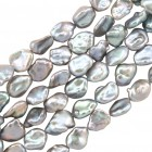 Freshwater Pearls, 11-12mm, Keshi Grey, PFWGF11
