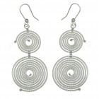 Sterling Silver Double Loop Earrings, SJERDT
