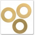 Brass Blank, Round Washer 25mm, 0.6mm Thick, TSBBWR25