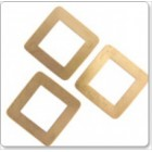 Brass Blank, Square Washer 30mm, 0.6mm Thick, TSBBWS30