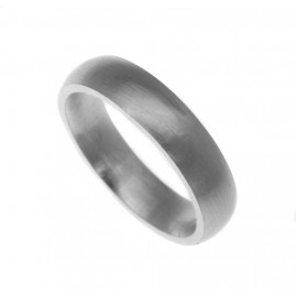 18ct White Gold Wedding Ring, Court, 5mm, Size R, Medium Weight 9.7gr, Hallmarked, W8WC4RMG