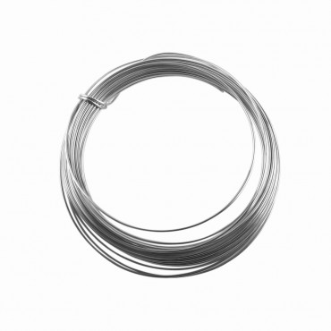 Sterling Silver Round Wire 0.8mm Diameter, BSSWR08